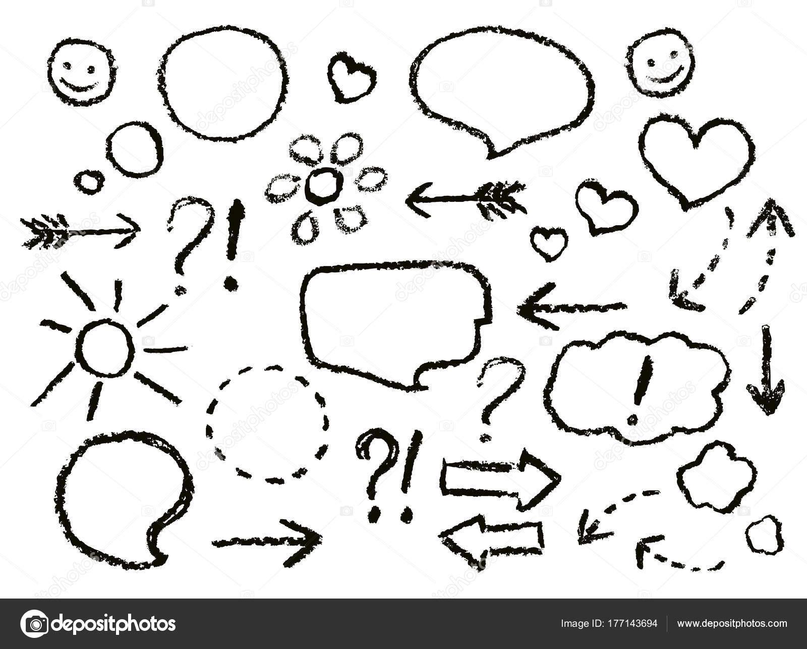 1600x1286 Drawing Speech Bubbles Crayon Arrows Heart Shape Smile Sign