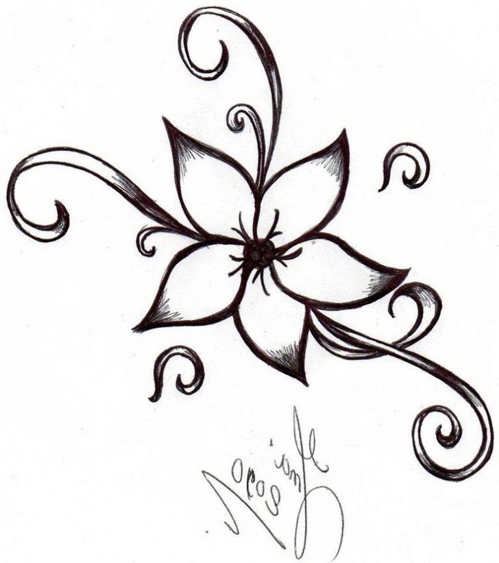 728x821 Simple Flower Drawings