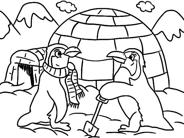 600x450 Igloo Coloring Lesson Kids Coloring Page Coloring Lesson