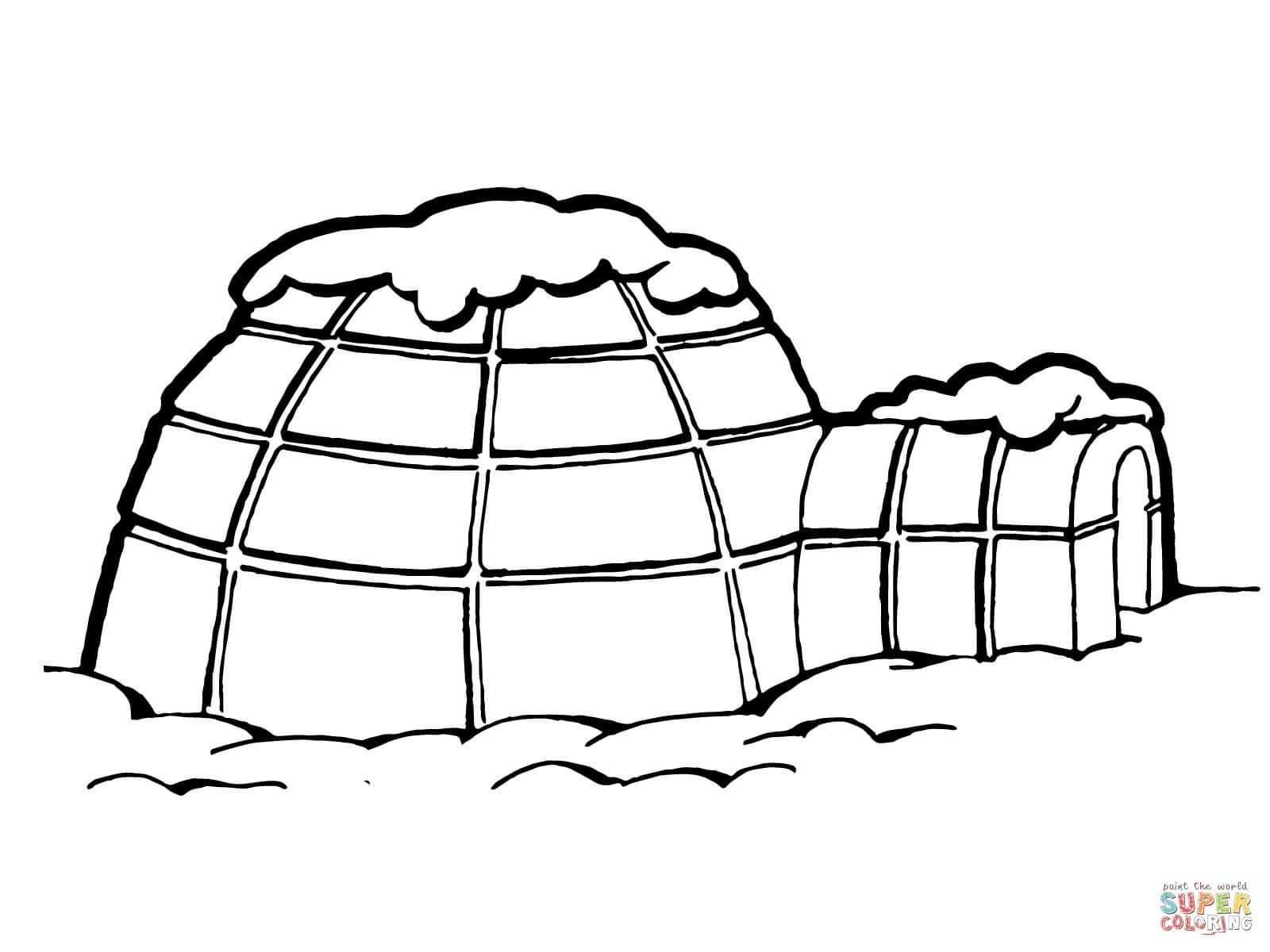 Igloo Drawing at GetDrawings   Free download