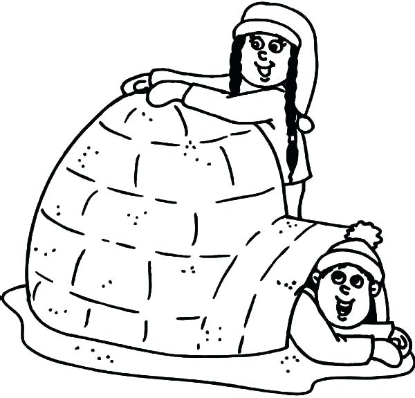 600x575 Igloo Coloring Page Capital Letter I For Igloo Coloring Page Igloo