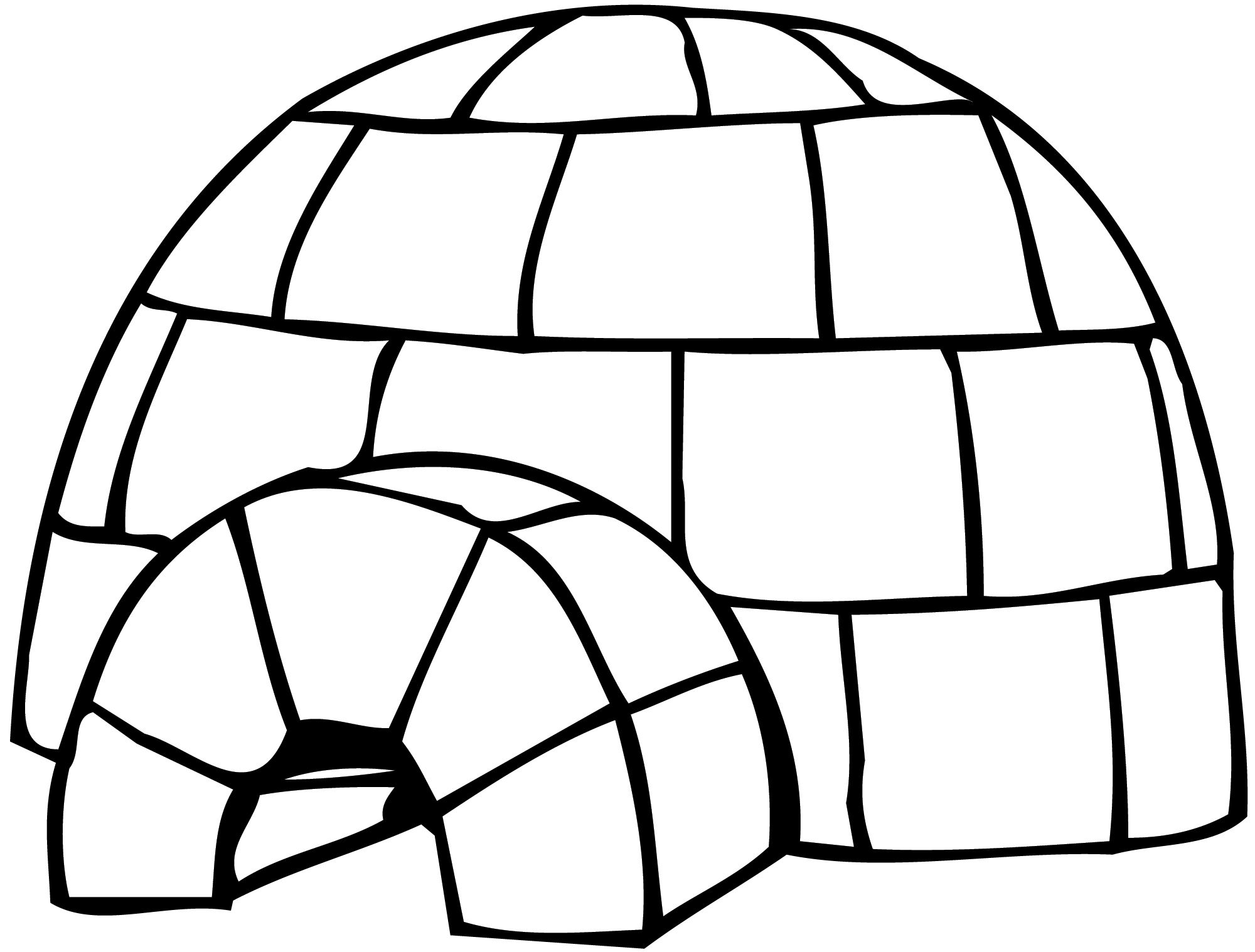 2000x1518 Igloo Coloring Page Speech Craft