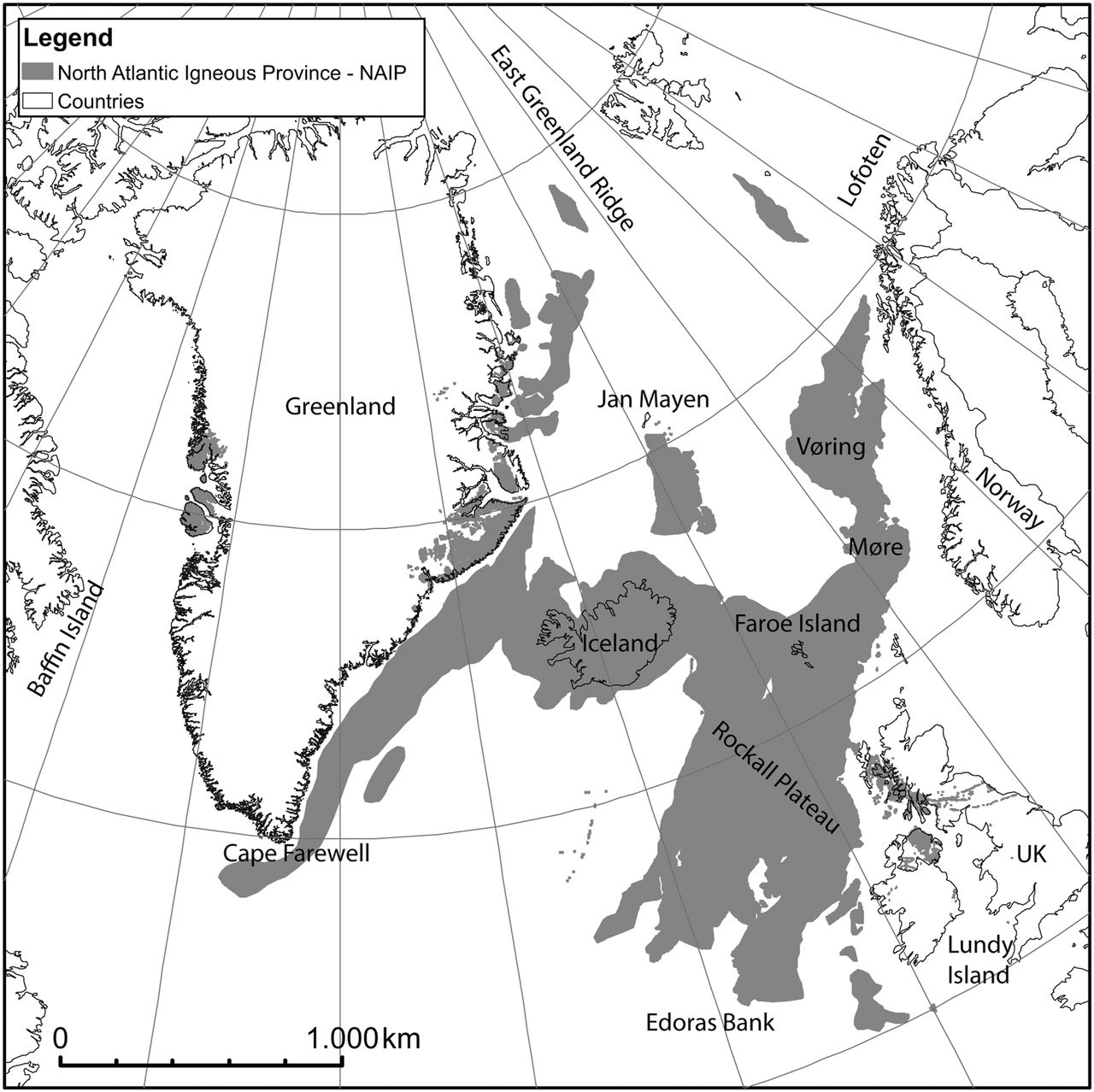 1280x1278 Regional Distribution Of Volcanism Within The North Atlantic