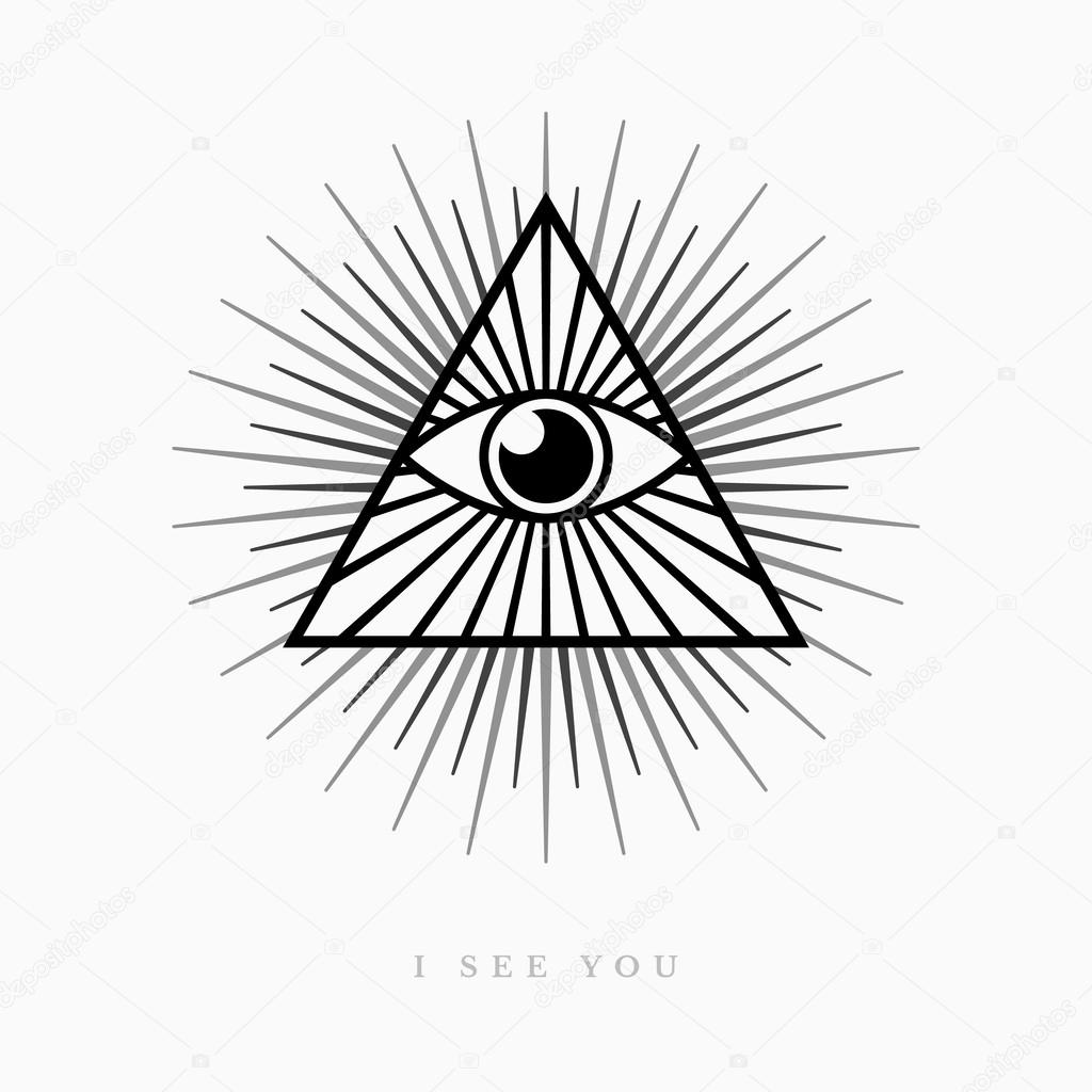 1024x1024 All Seeing Eye Stock Vector Hollygraphic