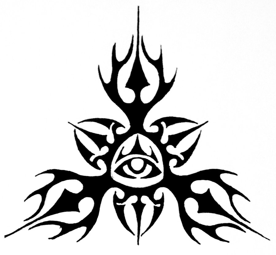 900x831 Tribal All Seeing Eye Design By Thecrimsonseas