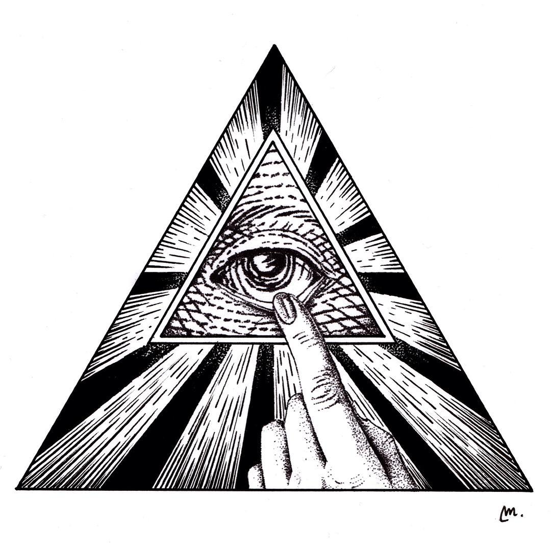 1080x1080 All Seeing Eye, Designed By @margarytzj, Tattoo Design Available