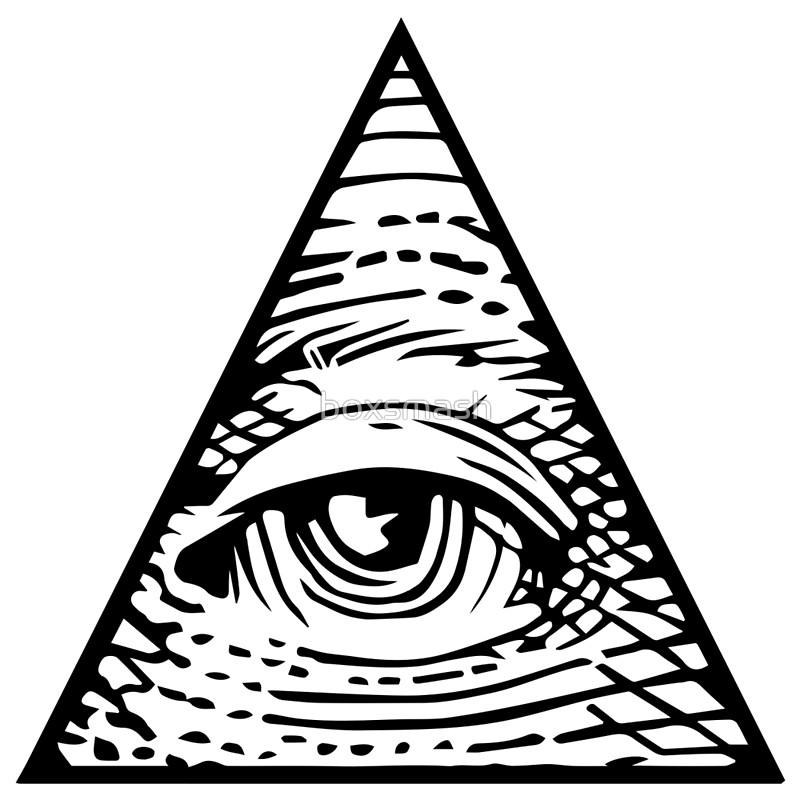 800x800 Illuminati Eye Of Providence Art Prints By Boxsmash Redbubble