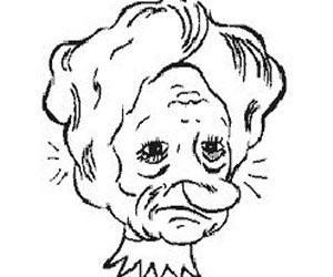 300x250 Princess Grumpy Man Cool Illusion Art, Drawing