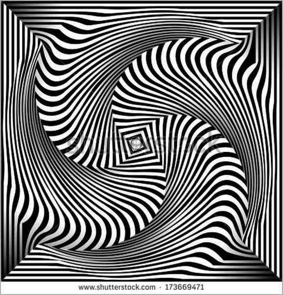 576x602 Black And White Optical Illusion Drawings