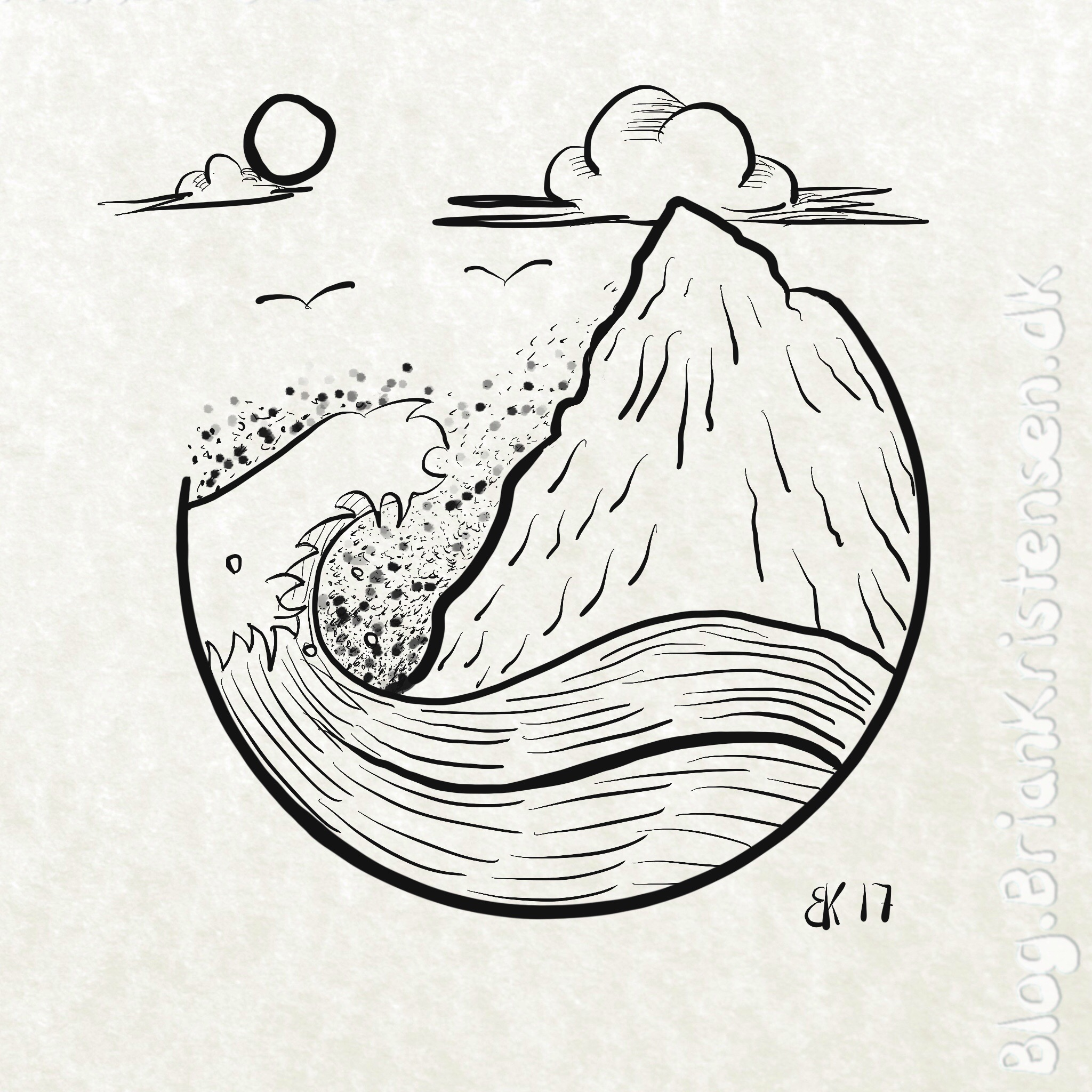 2048x2048 Drawing A Minimalistic Ocean Scene My Sketches