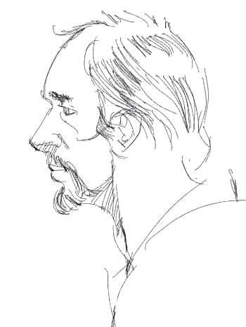 350x465 John Wallace ,corel Painter Lite [Imac] Pencil Example. Drawing