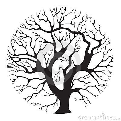 400x400 Coloring Pages Fancy Oak Tree Line Drawing Drawings Sketches
