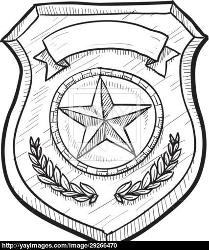 427x512 Police Badge Drawing