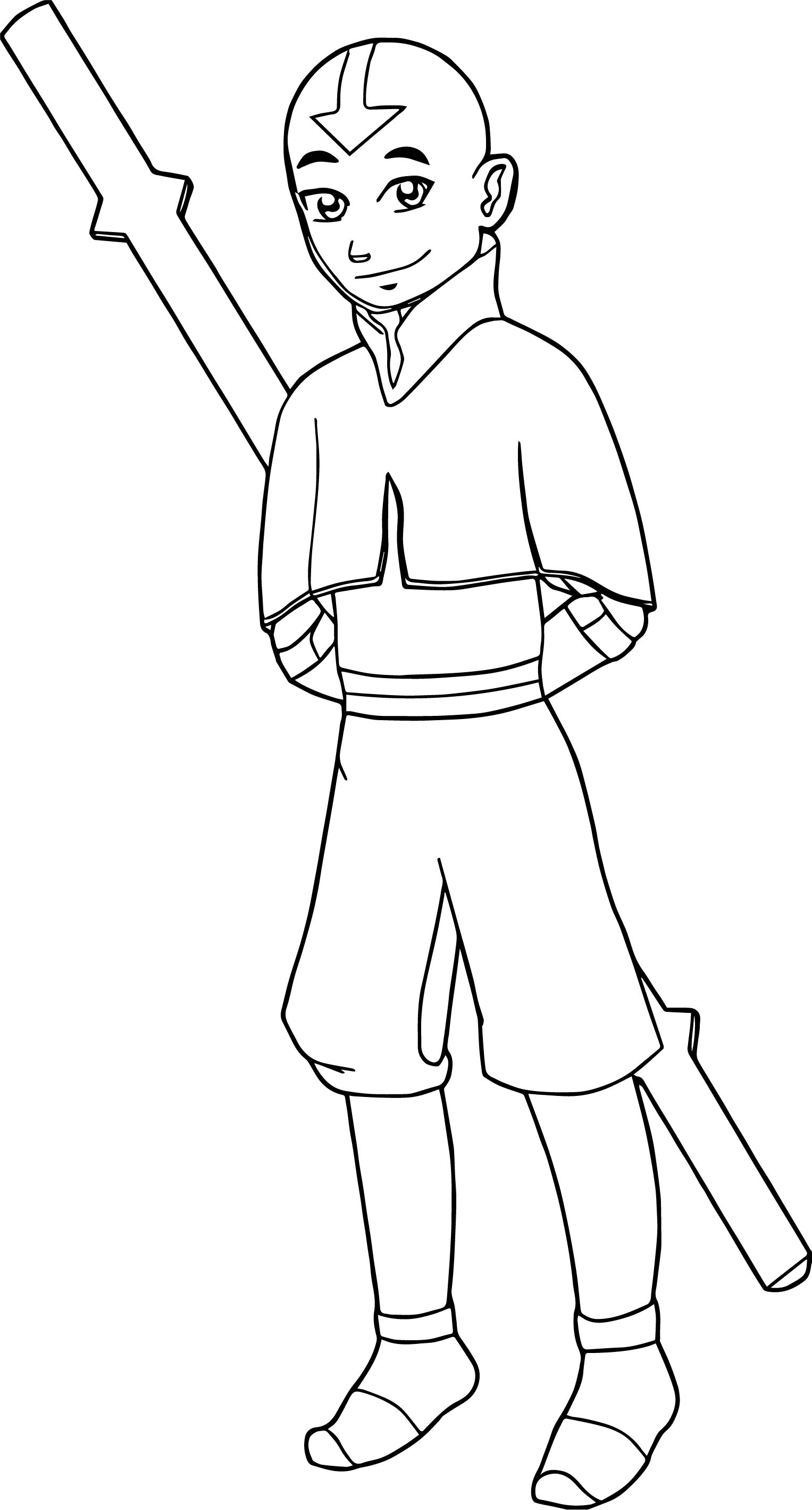 1527x2837 Drawing Of Aang Avatar Aang Coloring Page Wecoloringpage