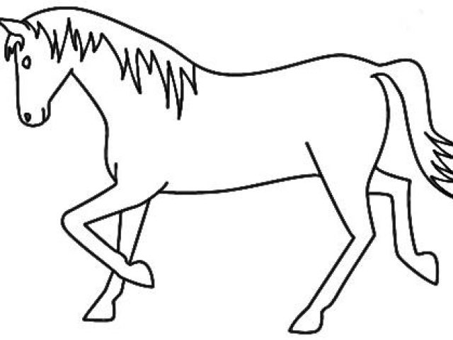 640x480 Coloring Pages Horse Drawing For Kids Maxresdefault Coloring
