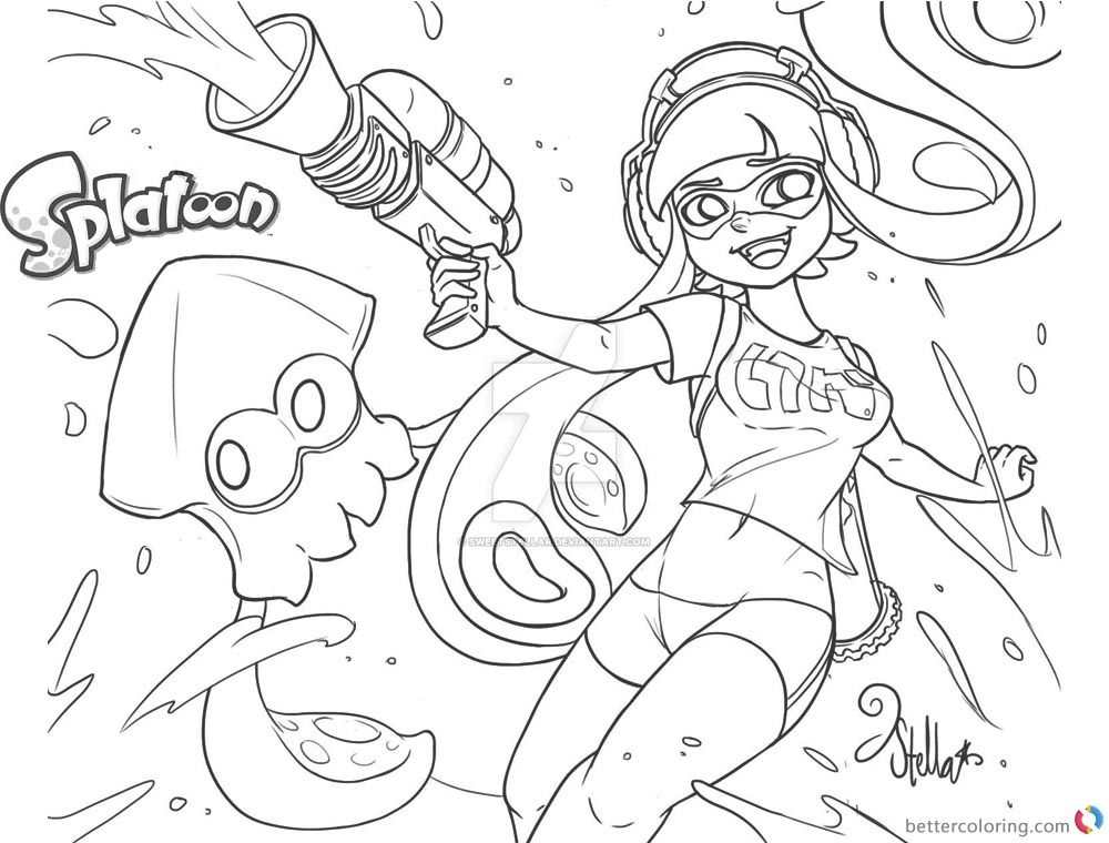 The best free Splatoon drawing images. Download from 43 ...
