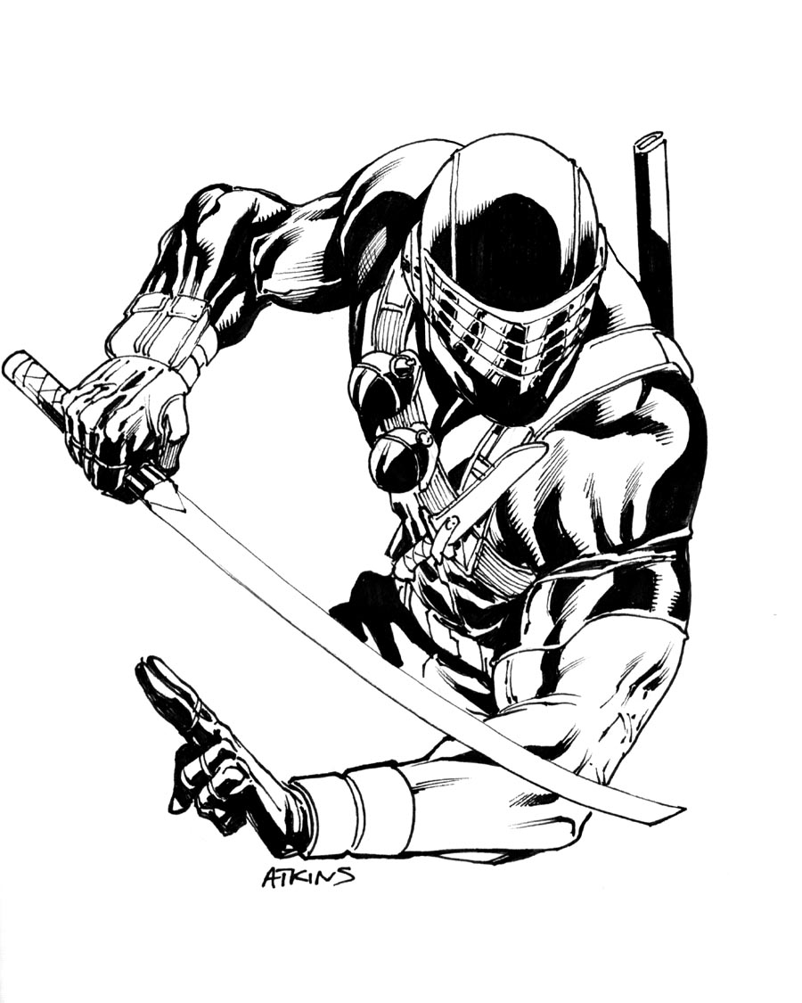 900x1125 Even More Snake Eyes . Robert Atkins Art