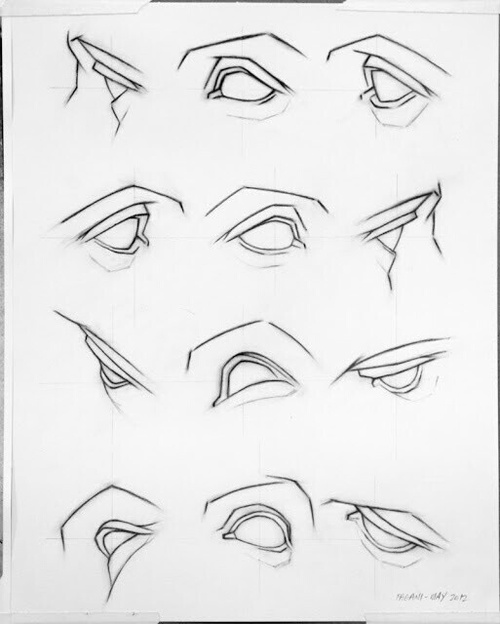 500x624 How To Draw Eyes From Didferent Perspective On We Heart It