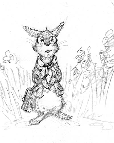400x500 Second Drawing I Did Of A Bookish Kenny Anthro Bunny
