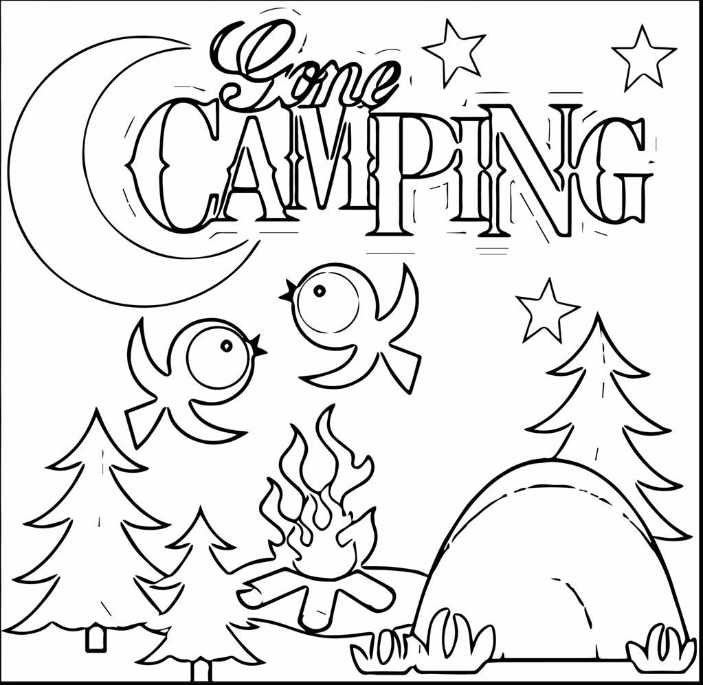1023x997 Great Camping Coloring Pages Imagine Unknown Resolutions High