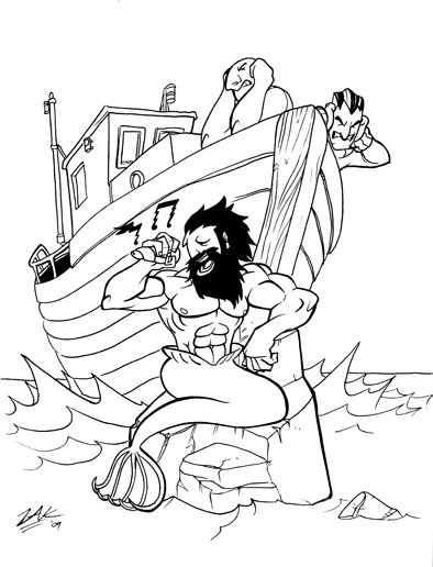 394x516 I Could Totally Imagine This Mrman As A Tattoo Without The Boat