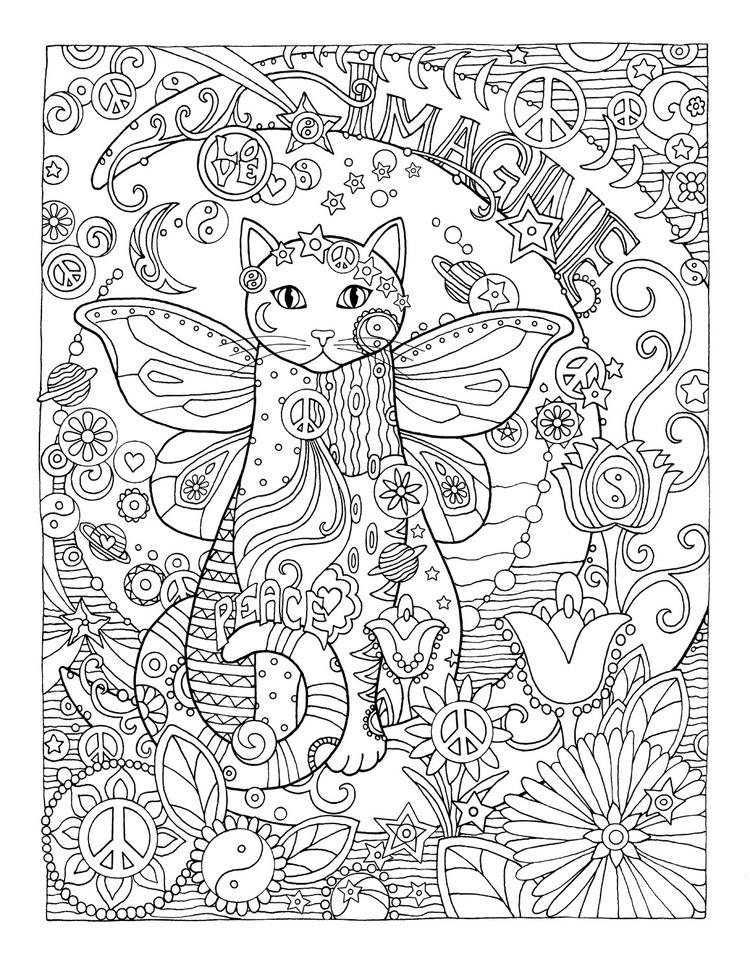 750x971 Imagine Kolorowanki Cat, Creative And Adult Coloring