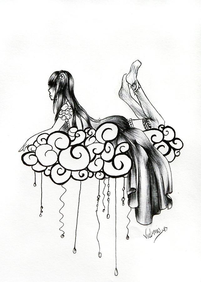 643x900 Imagine A Cloud Drawing By Vicki Chapman