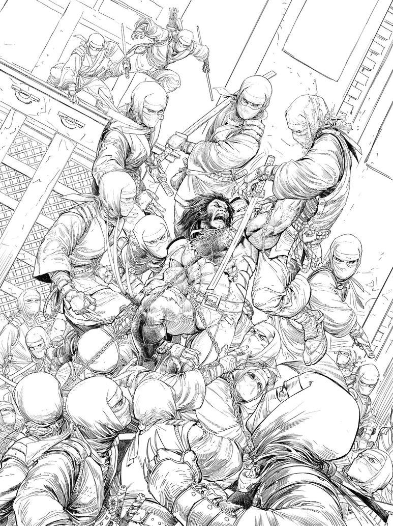 773x1033 Imagine Fx Wolverine Vs Ninjas Workshop Pencils By Nisachar
