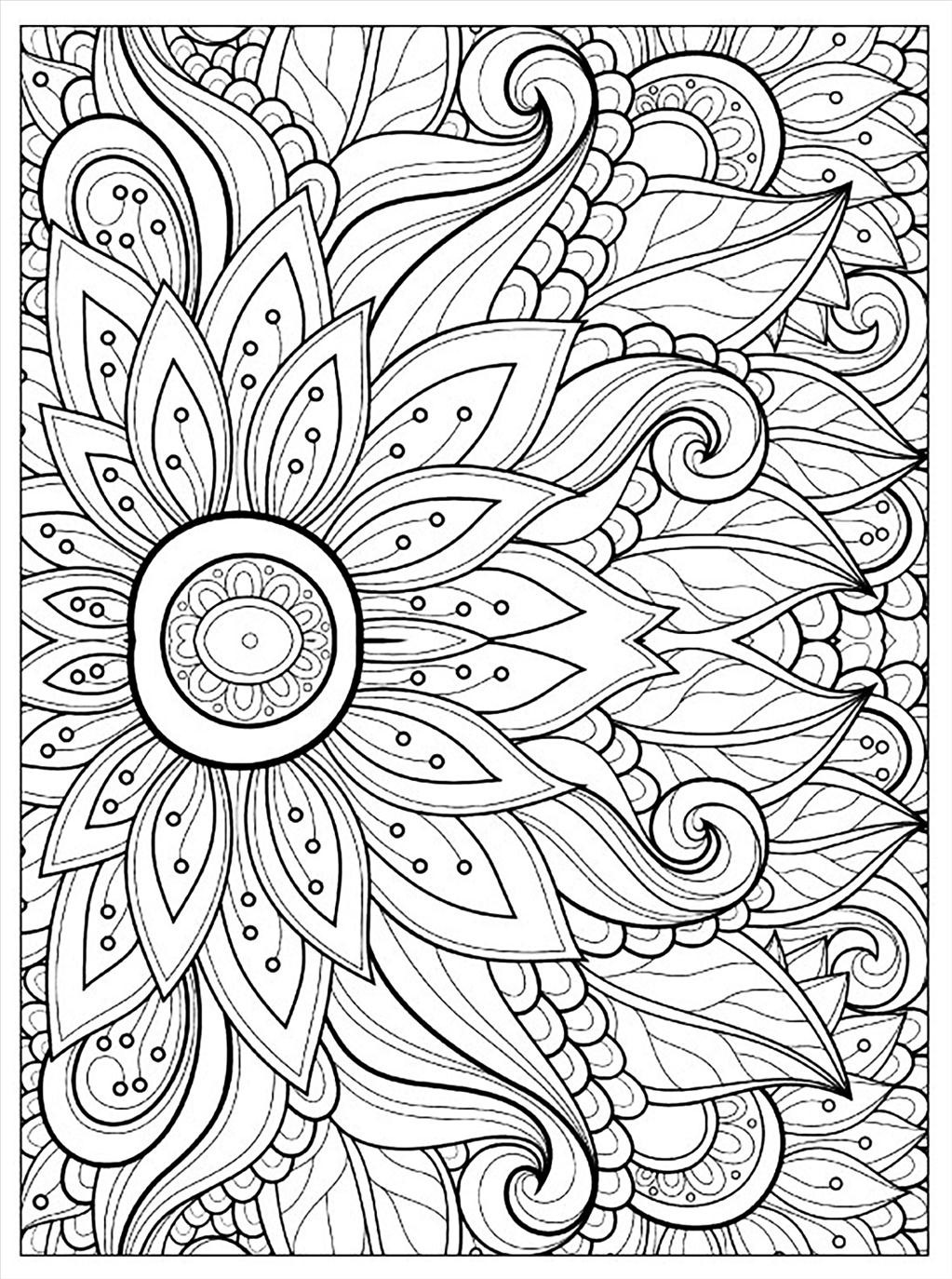 1023x1374 Top Adult Flower Coloring Pages Imagine Unknown Resolutions High
