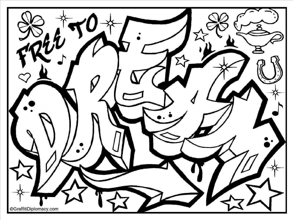 1023x771 Good Graffiti Coloring Pages Imagine Unknown Resolutions High