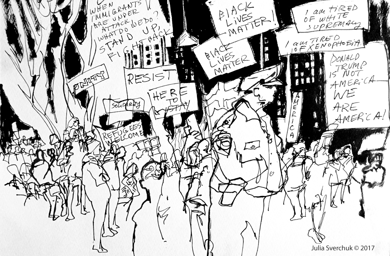 1296x851 Idrawing Nyc Emergency Rally For Muslim And Immigrant Rights