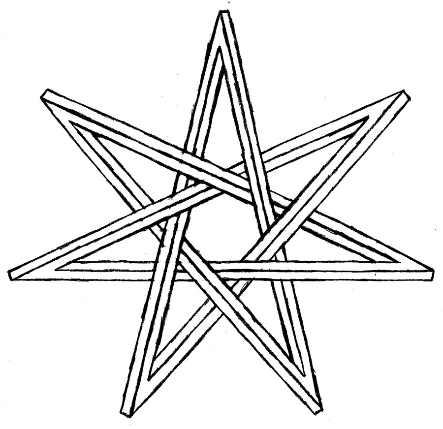 900x872 Seven Pointed Impossible Star By Thecelticpoet