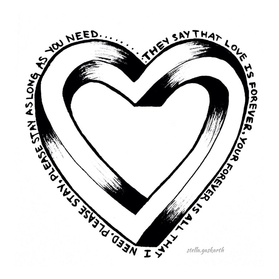 894x894 Impossible Heart (Sleeping With Sirens) By Alyx Gaskarth