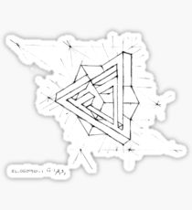 210x230 Impossible Triangle Drawing Stickers Redbubble