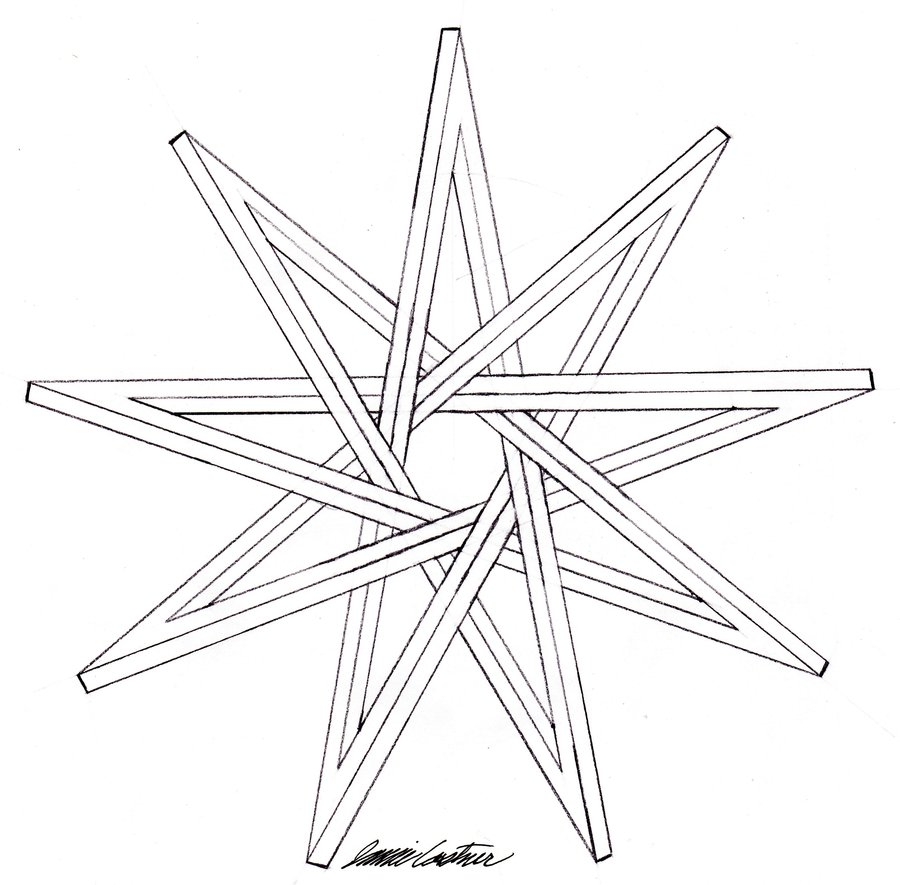 900x885 Nine Pointed Impossible Star By Thecelticpoet