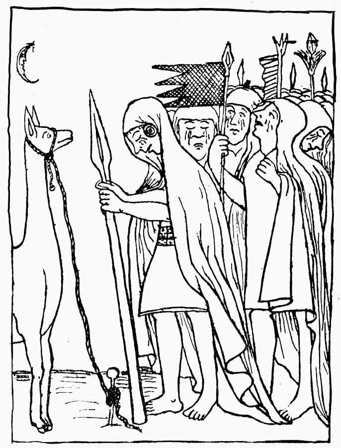 686x900 Inca Empire Dead Ruler Drawing By Granger