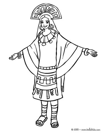 364x470 Inca Princess Coloring Page Coloring Princess