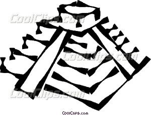 300x230 Inca Pyramid Vector Clip Art