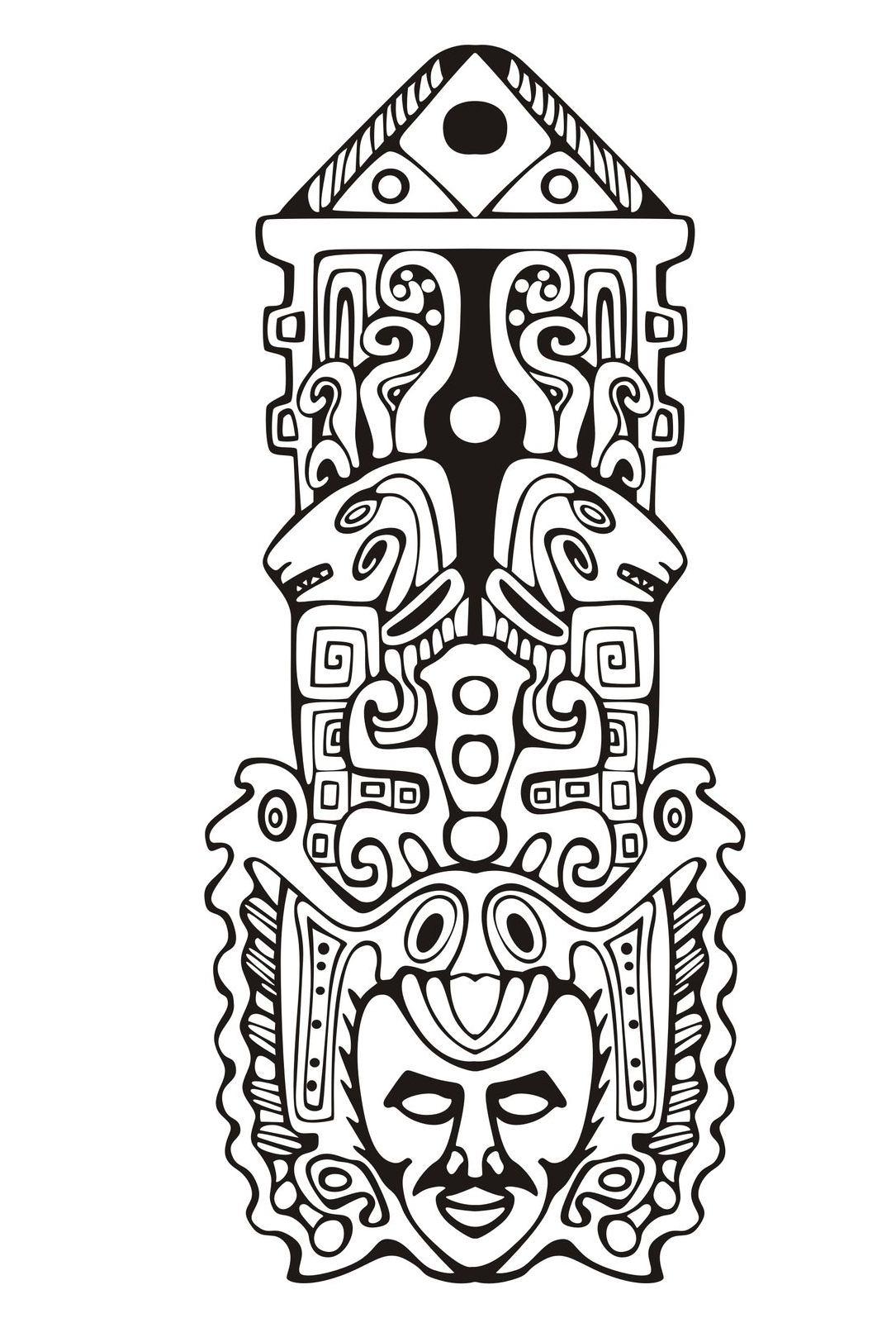1085x1624 Totem Inspiration Inca Mayan Aztec 7 Mayans Amp Incas
