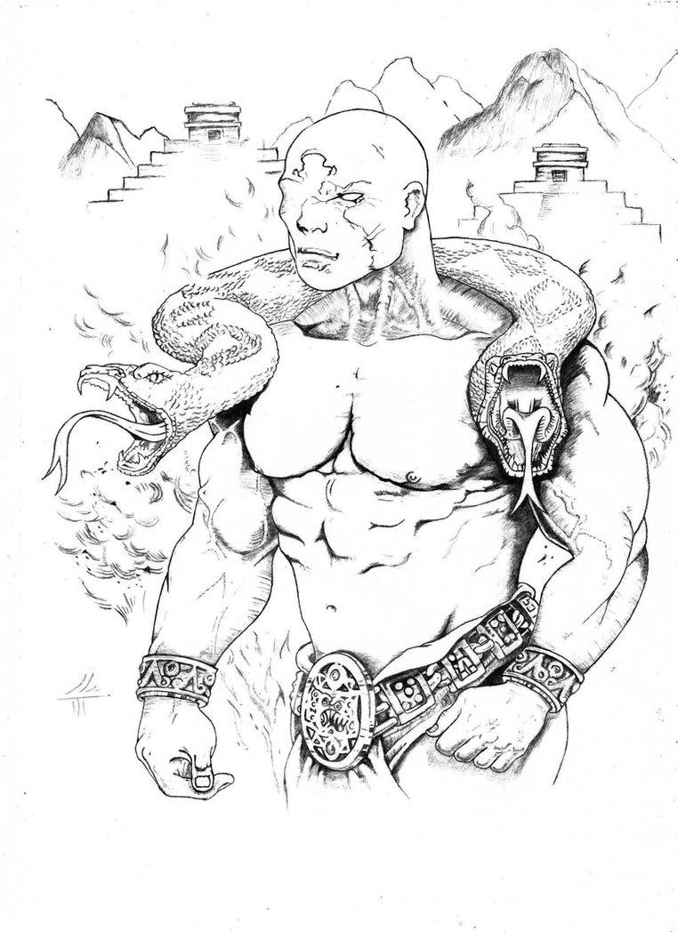 762x1048 Inca Warrior' By Alihk47