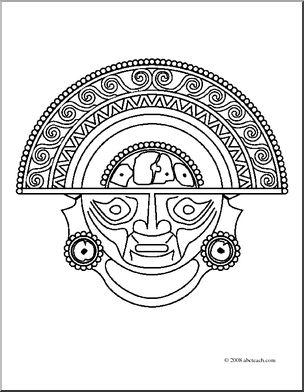 304x392 Clip Art Inca Gold (Coloring Page) I Abcteach