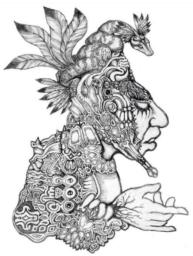 640x846 Dieu Incas Serpent Incas God Snake Aztecnative American