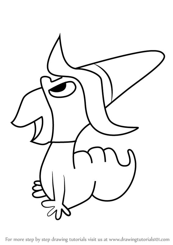 567x800 Learn How To Draw Inchworm From Deputy Dawg (Deputy Dawg) Step By