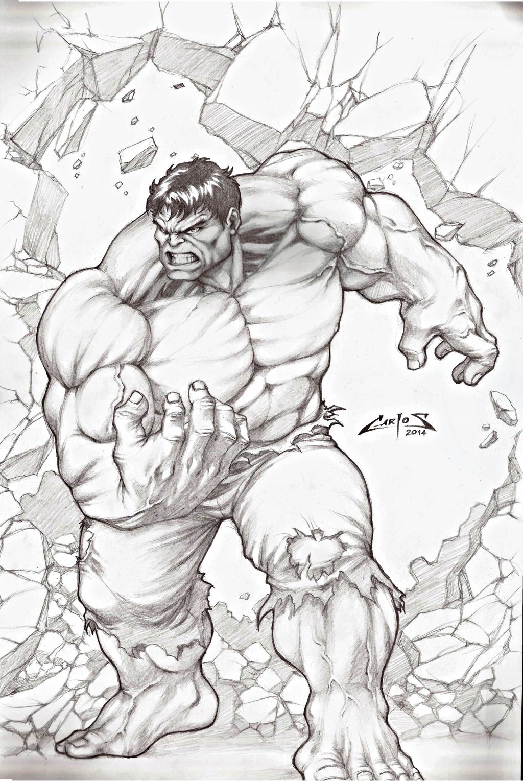 1024x1529 Incredible Hulk !!! By Carlosbragaart80