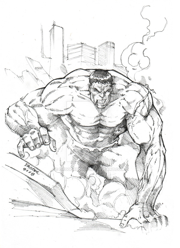 600x824 The Incredible Hulk Pencils By Daggerpoint