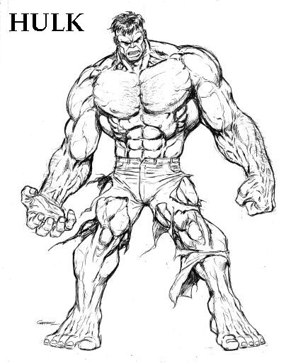 411x513 Hulk Drawing