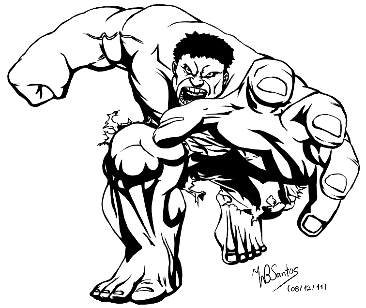 756x637 Black And White Incredible Hulk