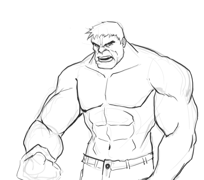 700x618 How To Draw Hulk
