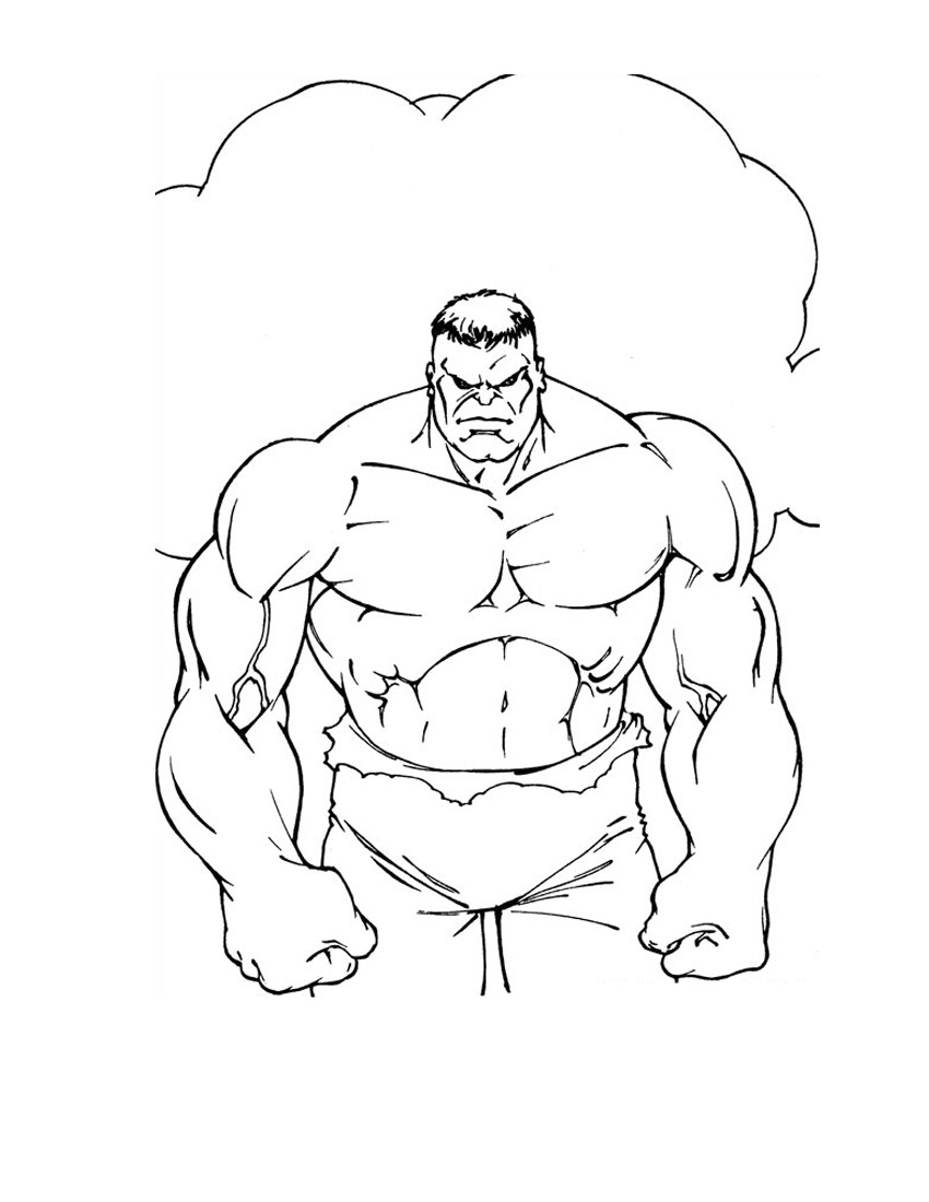 850x1100 Hulk Coloring Pages