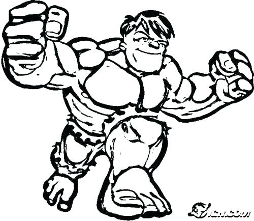 500x434 Incredible Hulk Coloring Page
